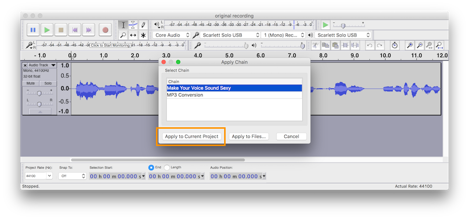 How to Make Your Voice Sound Sexy with Audacity — Matthew Setter