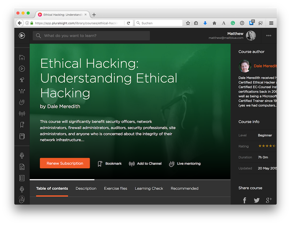 Ethical Hacking: Understanding Ethical Hacking by Dale Meredith