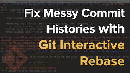 Fix a Commit History With Git Interactive Rebase