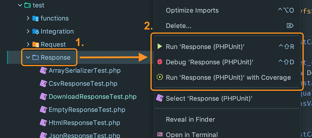 Running all tests in a group in PhpStorm