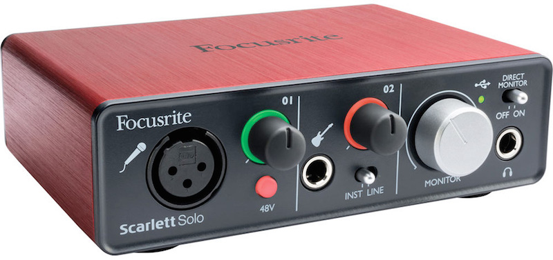 The Focusrite Scarlett Solo Mixer