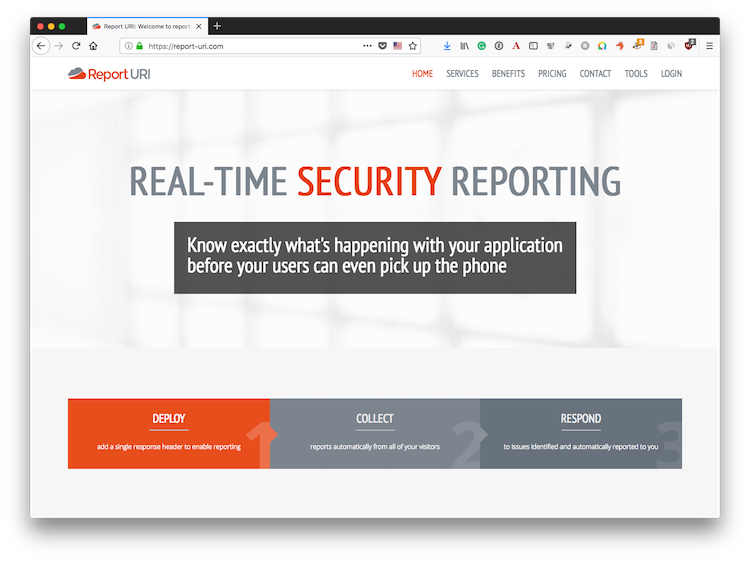 Report URI - Real-Time Security Reporting