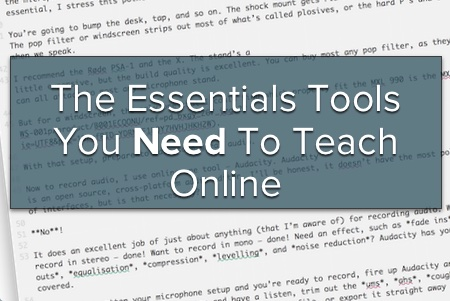The Essentials Tools You Need To Teach Online