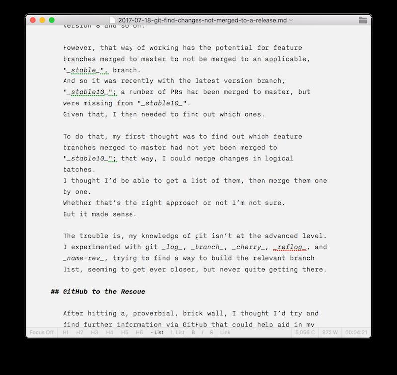 Vim - The Distraction Free Editor — Matthew Setter