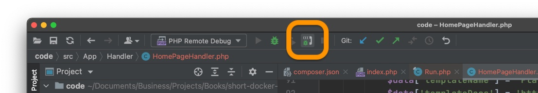 PhpStorm listening for PHP debug connections