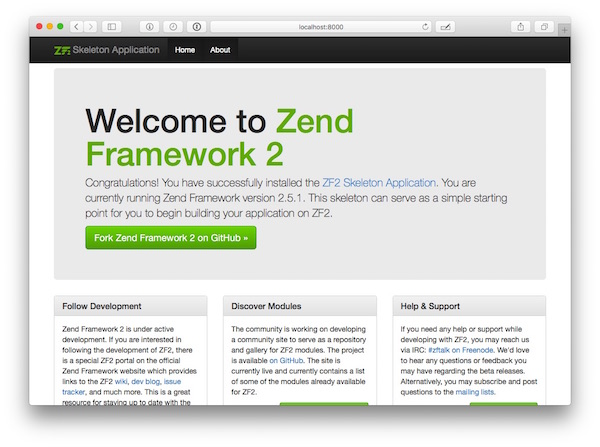 """Zend Skeleton app home page"""